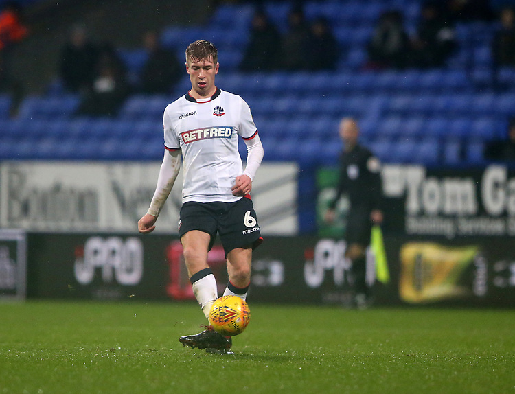 Bolton Wanderers' Josh Vela<br /> <br /> Photographer Stephen White/CameraSport<br /> <br /> The EFL Sky Bet Championship - Bolton Wanderers v Leeds United - Saturday 15th December 2018 - University of Bolton Stadium - Bolton<br /> <br /> World Copyright © 2018 CameraSport. All rights reserved. 43 Linden Ave. Countesthorpe. Leicester. England. LE8 5PG - Tel: +44 (0) 116 277 4147 - admin@camerasport.com - www.camerasport.com