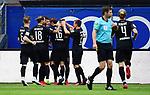 0:2 Tor, Jubel, v.l. Denis Linsmayer, Dennis Diekmeier, Leart Paqarada, Torschuetze Kevin Behrens, Julius Biada, Emanuel Taffertshofer (Sandhausen)<br /> Hamburg, 28.06.2020, Fussball 2. Bundesliga, Hamburger SV - SV Sandhausen<br /> Foto: VWitters/Witters/Pool//via nordphoto<br />  DFL REGULATIONS PROHIBIT ANY USE OF PHOTOGRAPHS AS IMAGE SEQUENCES AND OR QUASI VIDEO<br /> EDITORIAL USE ONLY<br /> NATIONAL AND INTERNATIONAL NEWS AGENCIES OUT
