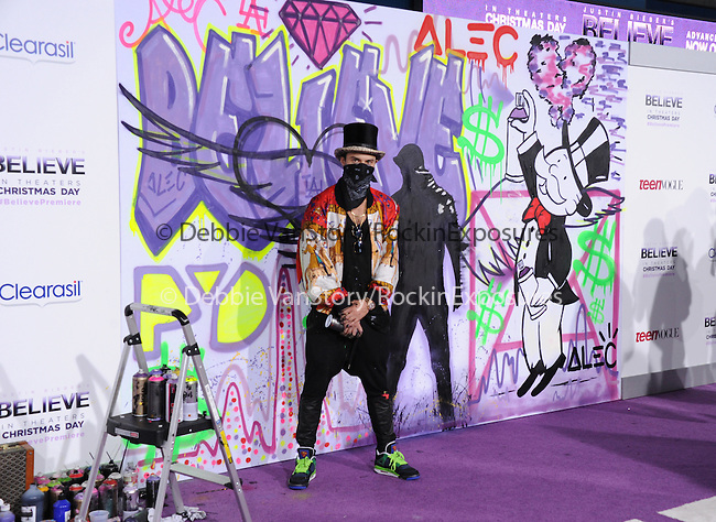 LOS ANGELES, CA - December 18: Alec Monopoly arrives at Justin Bieber`s Believe World Premiere held at The Premiere House at Regal Cinemas L.A. Live in Los Angeles, California on December 18,2013                                                                               © 2013 Hollywood Press Agency