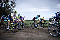 Later race winner Aimé De Gendt (BEL/Wanty Gobert) in the peloton riding a off-road section<br /> <br /> Antwerp Port Epic 2019 <br /> One Day Race: Antwerp > Antwerp 187km<br /> <br /> ©kramon
