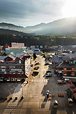 USA, Alaska, Ketchikan, a view of the town located right off the Port of Ketchikan