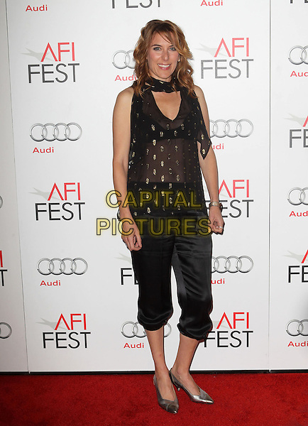 Amy Berge.AFI FEST 2012 'On The Road' gala screening, Grauman's Chinese Theatre, Hollywood, California, USA..3rd November 2012.full length black trousers sheer top scarf.CAP/ADM/KB.©Kevan Brooks/AdMedia/Capital Pictures.