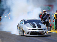 Mar 16, 2018; Gainesville, FL, USA; NHRA pro stock driver Chris McGaha during qualifying for the Gatornationals at Gainesville Raceway. Mandatory Credit: Mark J. Rebilas-USA TODAY Sports