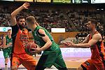 League ACB-ENDESA 2017/2018. Game: 30.<br /> Divina Seguros Joventut vs Valencia Baket Club: 77-75.<br /> Bojan Dubljevic, Tomasz Gielo &amp; Rafa Martinez.