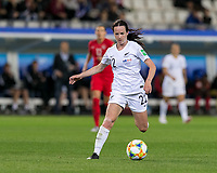 GRENOBLE, FRANCE - JUNE 15: Olivia Chance #22 of the New Zealand National Team dribbles at midfield during a game between New Zealand and Canada at Stade des Alpes on June 15, 2019 in Grenoble, France.