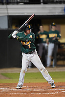 Siena Saints infielder Brett Connors (2) at bat during the opening game of the season against the UCF Knights on February 13, 2015 at Jay Bergman Field in Orlando, Florida.  UCF defeated Siena 4-1.  (Mike Janes/Four Seam Images)