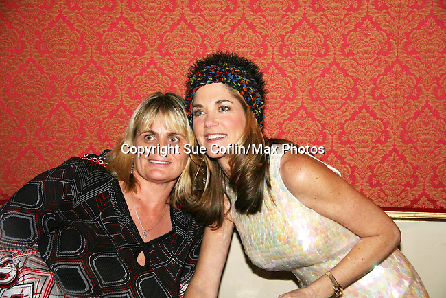 Kassie DePaiva made the hat and fan bought it for League Hearing - The Divas of Daytime TV performed a Christmas Show on December 5, 2009 at the Broadway Theatre in Pitman, New Jersey. (Photos by Sue Coflin/Max Photos)