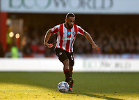 8th February 2020; Griffin Park, London, England; English Championship Football, Brentford FC versus Middlesbrough; Bryan Mbeumo of Brentford comes forward on the ball