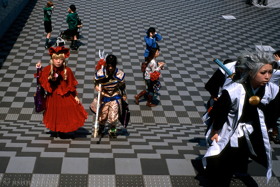 Scene at a cosplay event in Tokyo