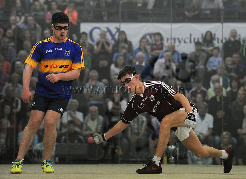 02/09/2017; GAA Handball All-Ireland 60x40 Boys Minor Singles Final, James Prentice (Tipperary) vs Diarmuid Mulkerrins (Galway); Croke Park Handball Center, Dublin;<br /> Diarmuid Mulkerrins<br /> Photo Credit: actionshots.ie/Tommy Grealy