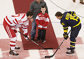 Oops, no one gave Douglas a puck. - The visiting Merrimack College Warriors defeated the Boston University Terriers 4-1 to complete a regular season sweep on Friday, January 27, 2017, at Agganis Arena in Boston, Massachusetts.The visiting Merrimack College Warriors defeated the Boston University Terriers 4-1 to complete a regular season sweep on Friday, January 27, 2017, at Agganis Arena in Boston, Massachusetts.