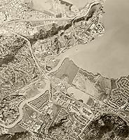 historical aerial photograph San Rafael, Greenbrae, Corte Madera, San Quentin, Marin County, California, 1982