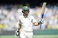 27th December 2019; Melbourne Cricket Ground, Melbourne, Victoria, Australia; International Test Cricket, Australia versus New Zealand, Test 2, Day 2; Travis Head of Australia acknowledges the crowd after losing his wicket - Editorial Use