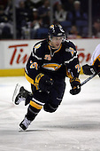 February 17th 2007:  Jason Pominville (29) of the Buffalo Sabres skates up ice vs. the Boston Bruins at HSBC Arena in Buffalo, NY.  The Bruins defeated the Sabres 4-3 in a shootout.