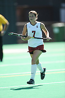 Stanford, CA - SEPTEMBER 27:  Forward Rachel Mozenter #7 of the Stanford Cardinal during Stanford's 7-0 win against the Pacific Tigers on September 27, 2008 at the Varsity Field Hockey Turf in Stanford, California.
