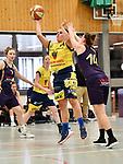 2018-02-18 / Basketbal / Seizoen 2017-2018 / Okido Arendonk - Grimbergen / Leyten (l. Okido) met De Wachter<br /> <br /> ,Foto: Mpics.be