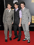 Jonas Brothers arriving at the 2008 American Music Awards  held at The Nokia Theatre Los Angeles, Ca. November 23, 2008. Fitzroy Barrett