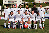 The United States lines up during the group stage of the CONCACAF Men's Under 17 Championship at Jarrett Park in Montego Bay, Jamaica. The USA defeated Panama, 1-0.