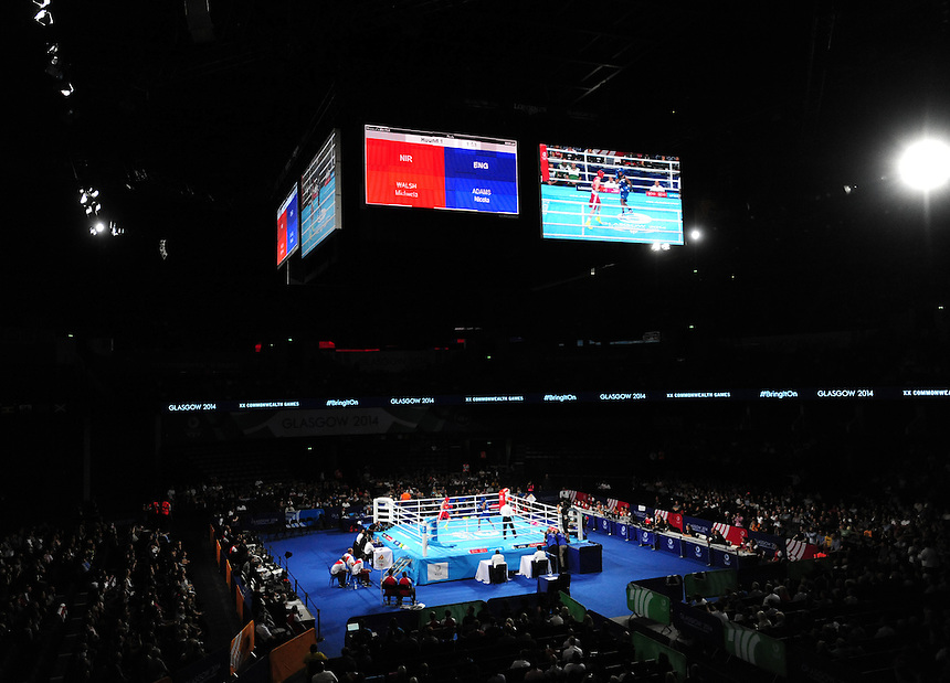 England&rsquo;s Nicola Adams defeats Northern Ireland&rsquo;s Michaela Walsh in the women&rsquo;s fly (48-51kg) final bout <br /> <br /> Photographer Chris Vaughan/CameraSport<br /> <br /> 20th Commonwealth Games - Day 10 - Saturday 2nd August 2014 - Boxing - The SSE Hydro - Glasgow - UK<br /> <br /> &copy; CameraSport - 43 Linden Ave. Countesthorpe. Leicester. England. LE8 5PG - Tel: +44 (0) 116 277 4147 - admin@camerasport.com - www.camerasport.com