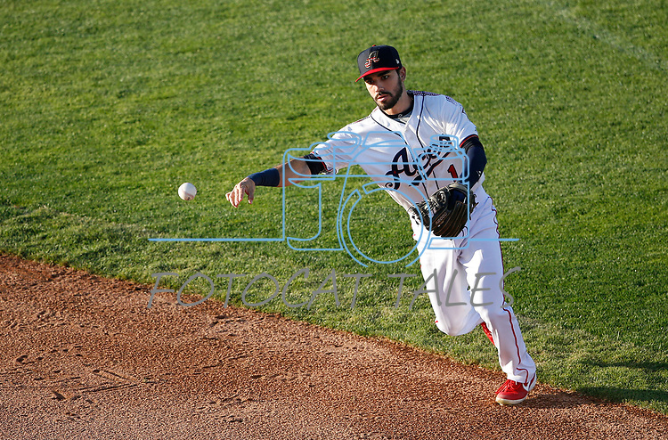 Reno Aces' Carlos Asuaje makes a play against the Sacramento River Cats during a game in Reno, Nev., on Thursday, July 4, 2019.<br /> Photo by Cathleen Allison/Nevada Momentum