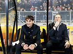 Nederland, Breda, 23 november 2012.Seizoen 2012-2013.Eredivisie .NAC Breda-ADO Den Haag.Nebojsa Gudelj (l.), de nieuwe trainer-coach van NAC Breda. Rechts Adri Bogers, assistent-trainer van NAC Breda.