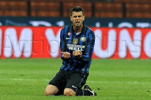 10.12.2011. Milan Italy, The Seria A football match between Inter Milan and Fiorentina. Image shows Thiago Motta Inter Milano
