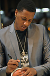 MIAMI, FL - FEBRUARY 25: Miami HEAT basketball player Mario Chalmers attends Best of Miami event at Opustone Natural Stone Distributors on February 25, 2014 in Miami, Florida. (Photo by Johnny Louis/jlnphotography.com)