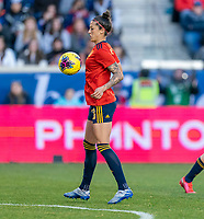 HARRISON, NJ - MARCH 08: Jennifer Hermoso #10 of Spain controls the ball during a game between Spain and USWNT at Red Bull Arena on March 08, 2020 in Harrison, New Jersey.