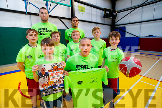 Sean Dillane, Graden Piez, Goran Pantovic, Joseph O'Sullivan, Kieran Donaghy, Sean Naughton, Trae Pemberton, Brian O'Donnell and Killian O'Donnell, pictured at the launch of the 5th Kieran Donaghy B A Star basketball camp, which will feature top American Marquette Assistant College coach is Nikki Nellen as well as Garveys Warriors star players TraePemberton Dusan Bogonovic, Goran Pantovic and Gary Murphy. Every kid gets a free camp shooting top and basketball. Just a few places remaining, contact kierandonaghybasketball@gmail.com or text 086 191836.
