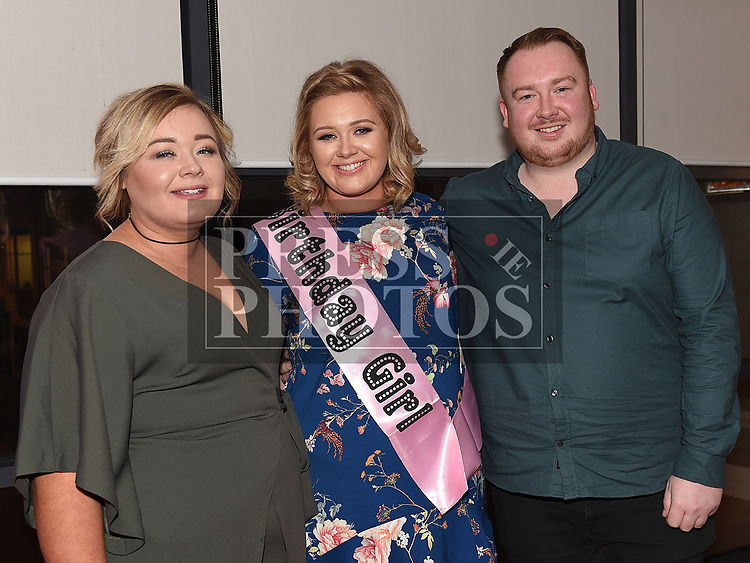 Sinead Byrne celebrating her 30th birthday with sister Ciara and brother Liam in Brú. Photo:Colin Bell/pressphotos.ie