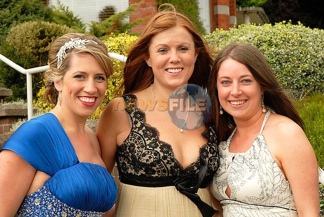 Adell Woods, Linda McGuill and Claire Courtney all glammed up and ready to colect for the Gary Kelly Centre.