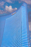 Vdara Hotel and Spa, Vertical, Blue Sky, Las Vegas, USA,