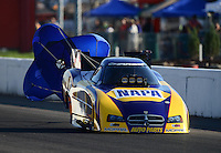 Sept. 29, 2012; Madison, IL, USA: NHRA funny car driver Ron Capps during qualifying for the Midwest Nationals at Gateway Motorsports Park. Mandatory Credit: Mark J. Rebilas-
