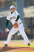 Charlotte 49ers starting pitcher Tyler Barnette (18) in action against the Kent State Golden Flashes at Robert and Mariam Hayes Stadium on March 8, 2013 in Charlotte, North Carolina.  The 49ers defeated the Golden Flashes 5-4.  (Brian Westerholt/Four Seam Images)