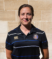 Physiotherapist Jane West poses for a portrait at a Bath Rugby photocall. Bath Rugby Media Day on September 8, 2015 at Farleigh House in Bath, England. Photo by: Rogan Thomson for Onside Images