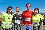 Ballybunion Easter Half Marathon & 10k : pictured at the 5th annual half marathon & 10k runs in Ballubunion on Saturday last were Rose Sheehy, Listowel, Aisling Lyons & Geoffrey Hall, Knocknagoshel & Helena Sheehy, Duagh.