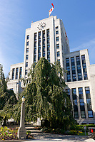 The Art Deco style Vancouver City Hall building completed in 1936, Vancouver, British Columbia, Canada
