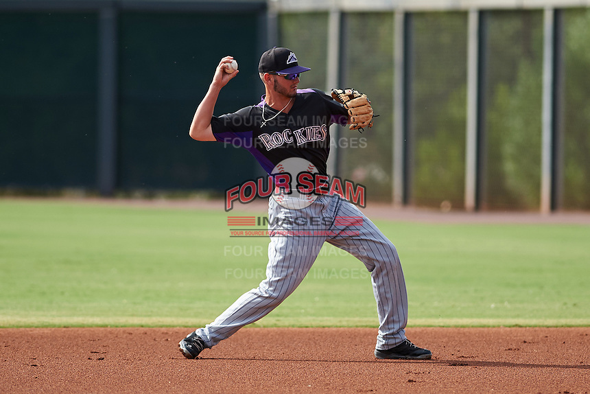 Colorado Rockies Forrest Wall (19) during an instructional league game against the SK Wyverns on October 10, 2015 at the Salt River Fields at Talking Stick in Scottsdale, Arizona.  (Mike Janes/Four Seam Images)