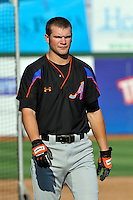 Aberdeen Ironbirds outfielder Zach Moore (9) during game against the Brooklyn Cyclones at MCU Park in Brooklyn, NY June 21, 2010. Cyclones won 5-2.  Photo By Tomasso DeRosa/Four Seam Images