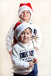 WATERBURY CT. 22 November 2016-112316SV04-Christmas Kid. <br /> Carlo Cavallo, 5, and Enzo Cavallo, 2, of Watertown.<br /> Steven Valenti Republican-American
