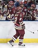 Anthony Aiello - Brian Boyle, Joe Adams, Stephen Gionta - The Boston College Eagles defeated the University of North Dakota Fighting Sioux 6-5 on Thursday, April 6, 2006, in the 2006 Frozen Four afternoon Semi-Final at the Bradley Center in Milwaukee, Wisconsin.