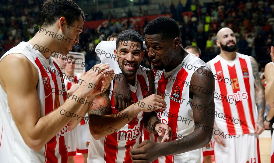 James Fildeine Mathias Lessort Crvena Zvezda - Barcelona Euroleague basketball match in Belgrade, Serbia on Oct 20. 2017. Crvena Zvezda won 90:82  foto: Pedja Milosavljevic