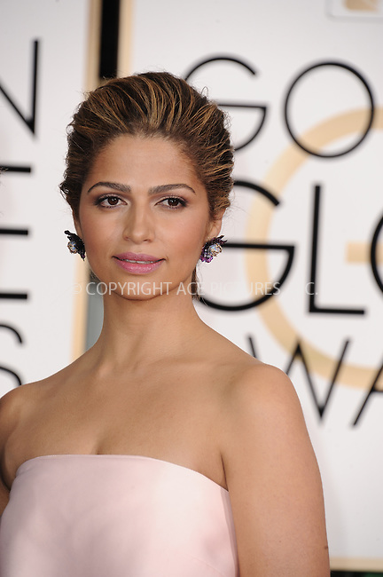 WWW.ACEPIXS.COM<br /> <br /> January 11 2015, LA<br /> <br /> Camila Alves arriving at the 72nd Annual Golden Globe Awards at The Beverly Hilton Hotel on January 11, 2015 in Beverly Hills, California.<br /> <br /> <br /> By Line: Peter West/ACE Pictures<br /> <br /> <br /> ACE Pictures, Inc.<br /> tel: 646 769 0430<br /> Email: info@acepixs.com<br /> www.acepixs.com