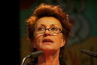 16. Rosa Luxemburg-Konferenz der linken Tageszeitung &quot;junge Welt&quot;.<br /> Am Samstag den 8. Januar 2011 veranstaltete die linke Tageszeitung &quot;junge Welt&quot; ihre traditionelle Rosa Luxemburg-Konferenz. Teilnehmerinnen bei der Abschlussdiskussion waren u.a die Parteivorsitzender der Linkspartei Die LINKE. Gesine Loetzsch; die Linkspartei-MdB Ulla Jelpke (im Bild); die Vorsitzende der Deutschen Kommunistishen Partei DKP Bettina Juergensen; das ehemalige RAF-Mitglied Inge Viet und Katrin Dornheim, Betriebsratsvorsitzende bei der Deutschen Bahn AG in Berlin.<br /> 8.1.2011, Berlin<br /> Copyright: Christian-Ditsch.de<br /> [Inhaltsveraendernde Manipulation des Fotos nur nach ausdruecklicher Genehmigung des Fotografen. Vereinbarungen ueber Abtretung von Persoenlichkeitsrechten/Model Release der abgebildeten Person/Personen liegen nicht vor. NO MODEL RELEASE! Nur fuer Redaktionelle Zwecke. Don't publish without copyright Christian-Ditsch.de, Veroeffentlichung nur mit Fotografennennung, sowie gegen Honorar, MwSt. und Beleg. Konto: I N G - D i B a, IBAN DE58500105175400192269, BIC INGDDEFFXXX, Kontakt: post@christian-ditsch.de<br /> Bei der Bearbeitung der Dateiinformationen darf die Urheberkennzeichnung in den EXIF- und  IPTC-Daten nicht entfernt werden, diese sind in digitalen Medien nach &sect;95c UrhG rechtlich geschuetzt. Der Urhebervermerk wird gemaess &sect;13 UrhG verlangt.]