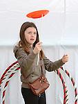 Leah Keogh having fun at the Droichead Arts Festival. Photo:Colin Bell/pressphotos.ie