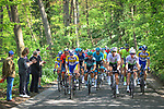 The peloton during the 83rd edition of La Fl&egrave;che Wallonne 2019, running 195km from Ans to Huy, Belgium. 24th April 2019<br /> Picture: ASO/Gautier Demouveaux | Cyclefile<br /> All photos usage must carry mandatory copyright credit (&copy; Cyclefile | ASO/Gautier Demouveaux)