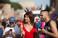 Vladimir Luxuria (Italian trans actress, writer, politician and television host).<br />