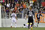 29 May 2012: Carolina's Ty Shipalane (RSA) (11) scores the game-tying goal in the 75th minute. The Carolina RailHawks (NASL) defeated the Los Angeles Galaxy (MLS) 2-1 at WakeMed Soccer Stadium in Cary, NC in a 2012 Lamar Hunt U.S. Open Cup third round game.
