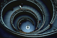 Ornate spiral staircase.