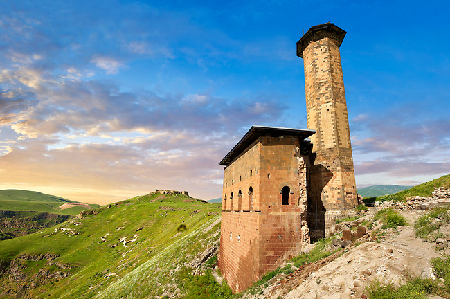 The Seljuk Turk Mosque of Ebul Minuchihr (Minuchir) built in 1072, Ani archaelogical site on the ancient Silk Road  , Anatolia, Turkey
